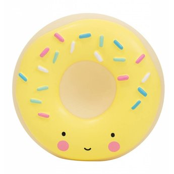 A Little Lovely Company A Little Lovely Company - Tirelire Beigne/Money Box Donut, Jaune/Yellow