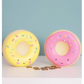 A Little Lovely Company A Little Lovely Company - Tirelire Beigne/Money Box Donut, Rose/Pink