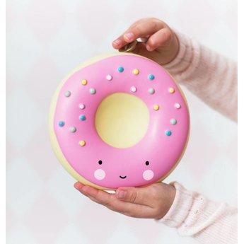 A Little Lovely Company A Little Lovely Company - Tirelire Beigne/Money Box Donut, Rose/Pink