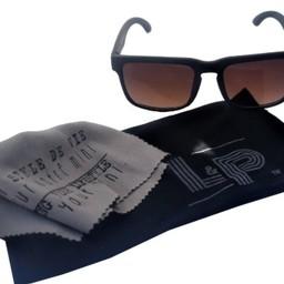 L&P L&P - Lunettes de Soleil Electric II/Sunglasses Electric II, Bois Foncé et Noir/Dark Wood and Black, 12+  Mois/Months