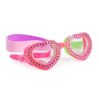 Bling 2 O Bling-2-O - Lunettes de Piscine/Swim Googles, Je T'aime Heart, Rose Punch/Punch Pink