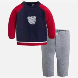 Mayoral Mayoral - Ensemble Pantalon et Chandail Ourson/Set of Pants and Pullover Teddy