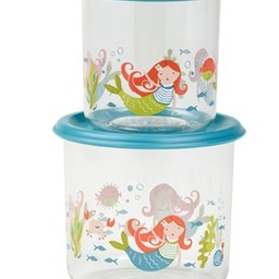 Sugarbooger Sugarbooger - Paquet de 2 Petits Contenants à Collation/Set of 2 Good Lunch Containers Small, Sirène/Mermaid