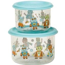Sugarbooger Sugarbooger - Paquet de 2 Petits Contenants à Collation/Set of 2 Good Lunch Containers Small, Robot