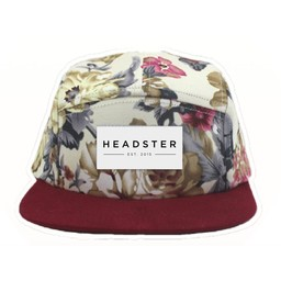 Headster Kids Headster Kids - Casquette Clémence/Clemence Cap, Fleurs Rouge/Red Flowers