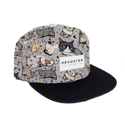 Headster Kids Headster Kids - Casquette Chat/Meow Mix Cap, Gris Chat/Grey Cats