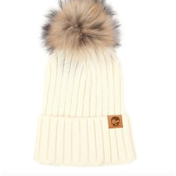Headster Kids Headster Kids - Tuque à Pompon Mlle Classy/Mlle Classy Pompon Hat, Crème/Cream