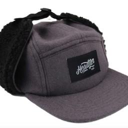 Headster Kids Headster Kids - Casquette d'Hiver Rock Hunter/Rock Hunter Winter Cap, Gris Noir/Grey Black