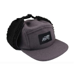 Headster Kids Headster Kids - Casquette d'Hiver Rock Hunter/Rock Hunter Winter Cap, Gris Noir/Grey Black