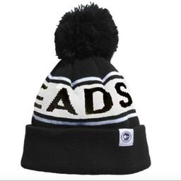 Headster Kids Headster Kids - Tuque à Pompon M.Retro/M.Retro Pompon Hat, Noire/Black