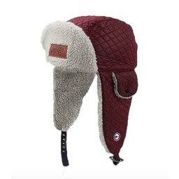 Headster Kids Headster Kids - Chapeau d'Hiver Original Trappers/Original Trappers Winter Hat, Bourgogne/Burgundy, Petit-Moyen/Small-Medium