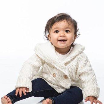 Beba Bean Veste à Capuchon en Tricot de Beba Bean/Beba Bean Crochet Knit Hoodie