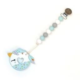 Loulou Lollipop Loulou Lollipop - Jouet de Dentition Licorne/Unicorn Teether, Bleu Gris/Blue Grey