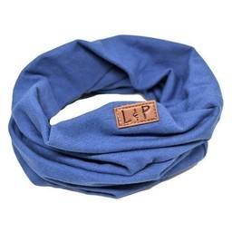 L&P L&P - Foulard de Coton Infinity/Infinity Cotton Scarf, Bleu Mix/Mix Blue