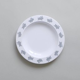Buddy and Bear Ltd Buddy and Bear - Assiette Hop Lapin/Hoppy Bunny Plate