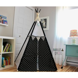 Babilles & Babioles Babilles & Babioles - Tipi, Noir et Blanc Triangles/Black and White Triangles