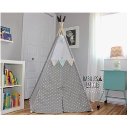 Babilles & Babioles Babilles & Babioles, Exclusivité - Tipi, Gris et Blanc Triangles/Grey and White Triangles