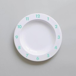 Buddy and Bear Ltd Buddy And Bear - Assiette de Plastique Dinner Time/Dinner Time Plastic Plate, Menthe/Mint