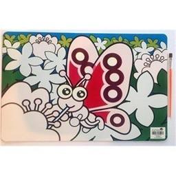 Funtello Funtello - Napperon Aqua Magique/Aqua Magic Placemat, Papillon/Butterfly
