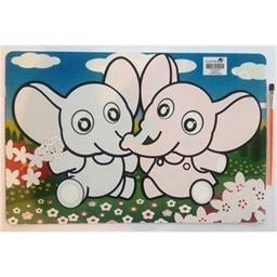 Funtello Funtello - Napperon Aqua Magique/Aqua Magic Placemat, Éléphant/Elephant