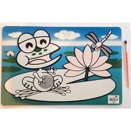 Funtello Funtello - Napperon Aqua Magique/Aqua Magic Placemat, Grenouille/Frog