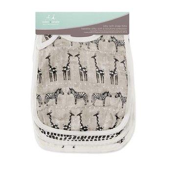Aden + Anais Aden et Anais - Paquet de 3 Bavoirs Doux et Soyeux/3-Pack Silky Soft Snap Bibs, Sahara