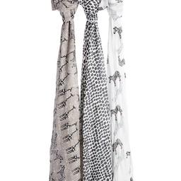 Aden + Anais Aden et Anais - Paquet de 3 Couvertures Douces et Soyeuses/3-Pack Silky Soft Swaddles, Sahara