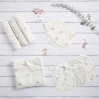 Aden + Anais Aden et Anais - Paquet de 3 Bavoirs Doux et Soyeux/3-Pack Silky Soft Snap Bibs, Featherlight