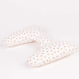 Ellie Ears Ellie Ears -  Coussin de Tête/Support Pillow, Pois Or/Gold Dots