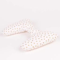 Ellie Ears Ellie Ears -  Coussin de Tête/Support Pillow, Pois Or/Gold Dots