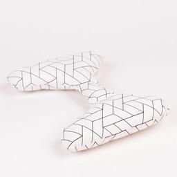 Ellie Ears Ellie Ears -  Coussin de Tête/Support Pillow, Tuiles Géométriques/Geometric Tile