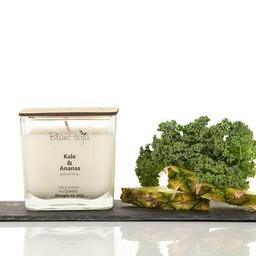 BlancSoja Blanc Soja - Bougie de Soja Kale et Ananas/Kale and Pineapple Soja Candle, 420ml
