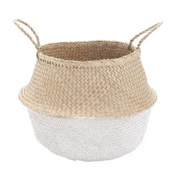 Olli Ella Olli Ella - Panier Blanc/White Dipped Belly Basket, Large