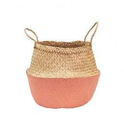 Olli Ella Olli Ella - Panier Corail/Coral Dipped Belly Basket, Médium/Medium
