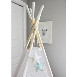 Babilles & Babioles Babilles & Babioles, Exclusivité - Étoiles Décoratives pour Tipi/Decorative Stars for Tipi, Bleu et Blanc/Blue and White
