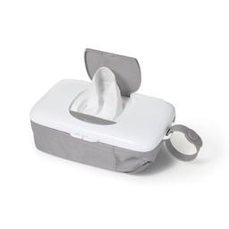 OXO *OXO - Distributeur de Lingettes avec Pochette à Couches/On-the-Go Wipes Dispenser with Diaper Pouch, Gris/Grey