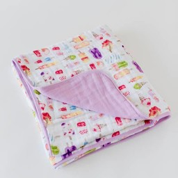 Little Unicorn Little Unicorn - Couette en Mousseline de Coton/Cotton Muslin Quilt, Plaisirs Glacés/Brain Freeze