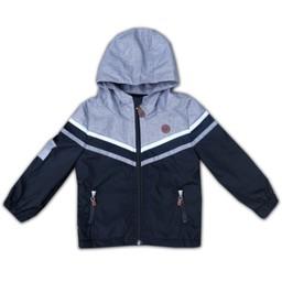L&P L&P - Manteau D'extérieur Boys HE1/Boys HE1 Outwear Jacket, Noir, Blanc et Gris/Black, White and Grey