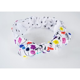 Roma Skye Confections Bandeau à Noeud Réversible de Roma Skye/Roma Skye Reversible Headband, Fleur/Flower, 1-3 Ans/Years