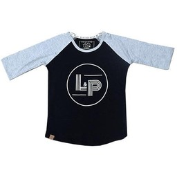 L&P L&P - Chandail Manches 3/4 Basic V1/Basic V1 3/4 Sleeves Shirt, Gris et Noir/Grey and Black