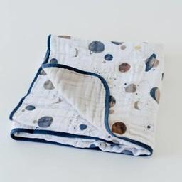 Little Unicorn Little Unicorn - Couette en Mousseline de Coton/Cotton Muslin Quilt, Planètes/Planetary