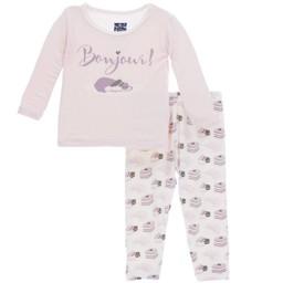 Kickee Pants Kickee Pants - Pyjama 2 Pièces à Manches Longues/Long Sleeve Pajama Set, Douceur Sucrée/Sweat Treats