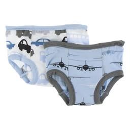 Kickee Pants Kickee Pants -  Ensemble de 2 Sous-Vêtements D'entrainement/Set of 2 Training Pants, Avions/Planes