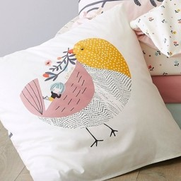 Catimini Catimini - Taie d'Oreiller/Pillow Case, 65x65cm, Oiseau Chanteur