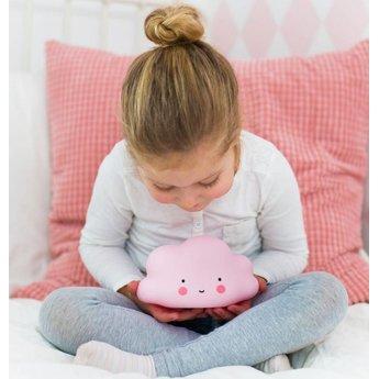 A Little Lovely Company A Little Lovely Company - Mini Veilleuse Nuage/Mini Cloud Light, Rose/Pink
