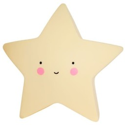 A Little Lovely Company A Little Lovely Company - Mini Veilleuse Étoile/Mini Star Light, Jaune/Yellow