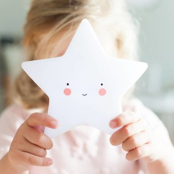 A Little Lovely Company A Little Lovely Company - Mini Veilleuse Étoile/Mini Star Light, Blanc/White