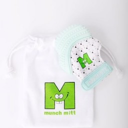Munch Mitt Munch Mitt - Mitaine de Dentition/Theething Mitten, Menthe Triangle/Mint Triangle
