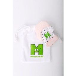 Munch Mitt Munch Mitt - Mitaine de Dentition/Theething Mitten, Rose Pastel/Light Pink