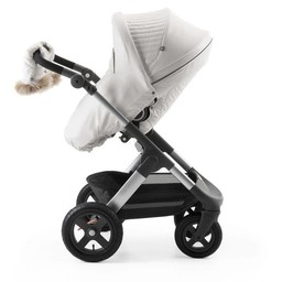 Stokke Stokke - Ensemble D'hiver pour Poussette Explory/Winter Kit for Explory Stroller, Blanc Perle/Pearl White